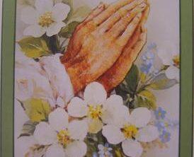 In Loving Memory Floral Hands